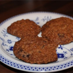 Chewy Choc Chip Oatmeal Cookies