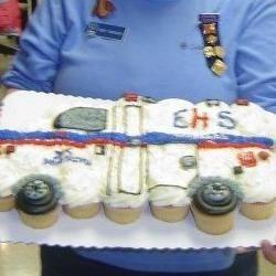 My Ambulance Cupcake cake