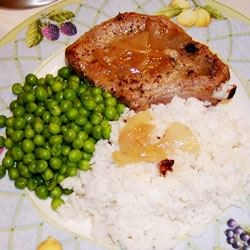 Gingered Pork Chops in Orange Juice Recipe