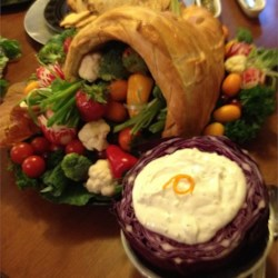 Red Cabbage as the Veggie Dip Bowl