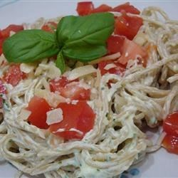 Photo of Creamy Pesto Pasta Salad with Chicken, Asparagus and Cherry Tomatoes by USA WEEKEND columnist Pam Anderson