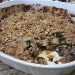 Apple Mincemeat Crumble