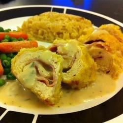 Chicken  Cordon Bleu with Rice Pilaf