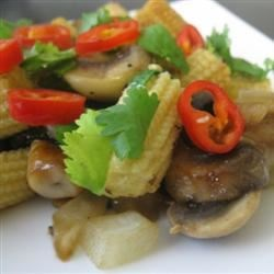 Stir-Fried Mushrooms with Baby Corn Recipe