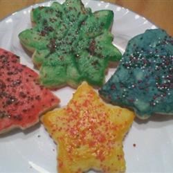 Butterless Sugar Cookies decorated with egg tempra