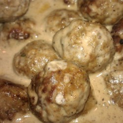 Swedish Meatballs Using Dana's Recipe w/ a few Tweeks.