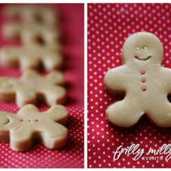 Peanut Butter Fudge Gingerbread Men