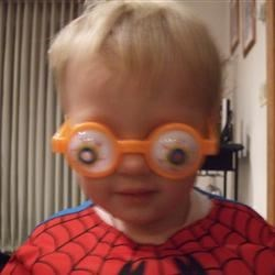 Spider Man with Goofy Glasses