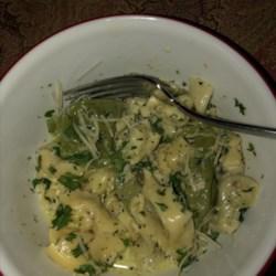 Tortellini with Basil-Cream Sauce