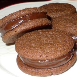 Chocolate Mint-Filled Cookies