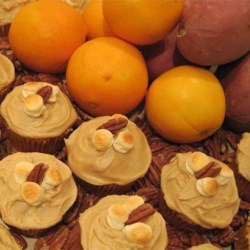 Candy'D Sweet Potato Cupcakes with Brown Sugar Icing Recipe