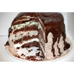 Ice Cream Cake with Chocolate Ganache