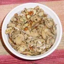 Baked Brie with Mushrooms and Almonds