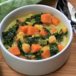 sweet potato and kale soup printer friendly