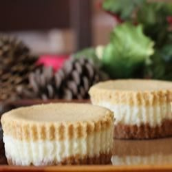 Double Layer Pumpkin Mini Cheesecakes
