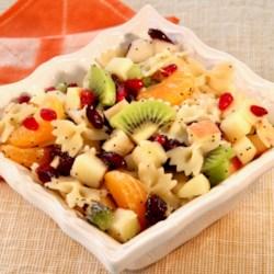 winter fruit and pasta salad printer friendly