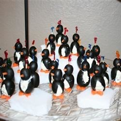 Cream Cheese Penguins