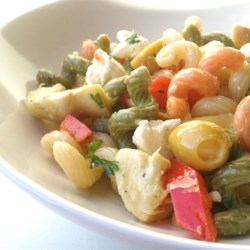 Tri-Colored Pasta with Feta Cheese Recipe