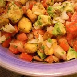 Tomato-Cornbread Salad with Avocado and Cilantro Recipe