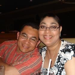 Me and my husband eating in the Restaurant