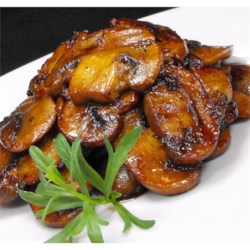 Photo of Mushrooms with a Soy Sauce Glaze by STEVEANDANGELA