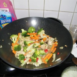 Stir-Fried Vegetables with Chicken