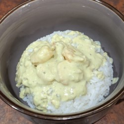Shrimp in Avocado Cream Sauce