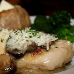 Crock Pot Cheesy Mushroom Chicken Recipe