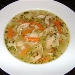 Chicken Soup with Drop-In Noodles Recipe