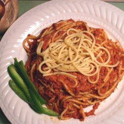 Spaghetti with Corned Beef Recipe