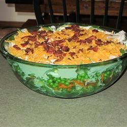Deep Dish Layered Salad Recipe