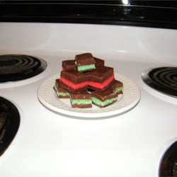 Layered Chocolate Mint Fudge
