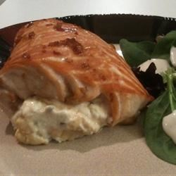 Sara's Soy Marinated and Cream Cheese-Stuffed Salmon Recipe