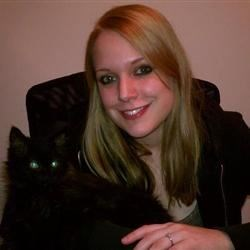 This is my cat, Jax, and I.  :D