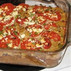 Squash with Tomato and Feta Cheese Recipe