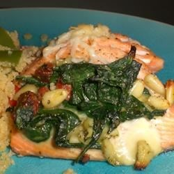 Spinach-Stuffed Salmon Fillets Recipe