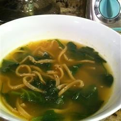 Garlic Spinach Soup Recipe