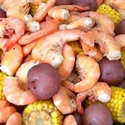 Photo of Mild-Style Shrimp Boil with Corn and Red Potatoes by Rebecca