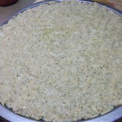Crust, before baking