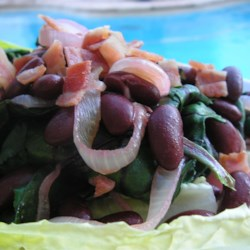 Beet Greens and Baby Spinach with Red Kidney Beans