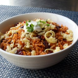 the best baked rice and beans printer friendly