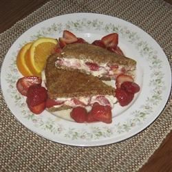Toasted Strawberry-Cream Cheese Breakfast Sandwiches Recipe