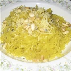 Spaghetti Squash with Pine Nuts Sage and Parmesan