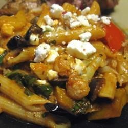 Whole Wheat Rigatoni and Cauliflower, Wilted Arugula, Feta & Olives Recipe