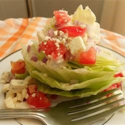 Wedge Salad with Elegant Blue Cheese Dressing Recipe