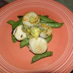 Seared Scallops with Pineapple, Ginger and Lemon Grass Salsa