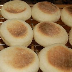 English Muffins--fresh off the griddle