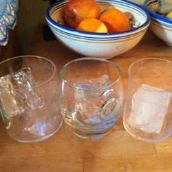 3 kinds of ice: boiled/filtered; filtered, young; filtered and 1 week old.