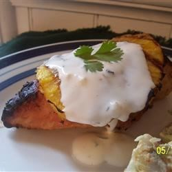 Coconut-Lime Chicken with Grilled Pineapple Recipe