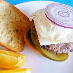 Easy Breakfast Sausage Burgers Recipe